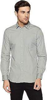 Amazon Brand - Symbol Men's Solid Regular Fit Casual Shirt