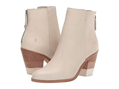 Frye Cameron Bootie (Off-White Polished Soft Full Grain) Women