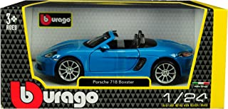 Porsche 718 Boxster Blue 1/24 Diecast Model Car by Bburago 21087