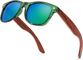 Wood Sunglasses Polarized for Men and Women - Bamboo Wooden Sunglasses Sunnies - Fishing Driving Golf