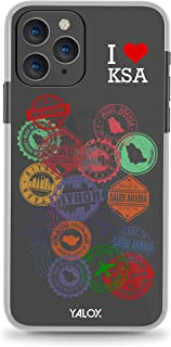 Yalox iPhone 7/8/SE(2nd Gen) Case Riyadh Stamps Full Body Rugged Case with Built-in Touch Sensitive Anti-Scratch Screen Pr...