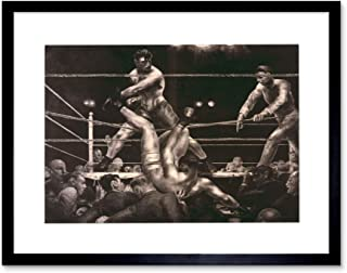 The Art Stop Sport Boxing Jack Dempsey LUIS FIRPO Polo New York Frame Print Picture F12X664