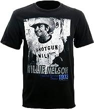 YoungerMan Hi Fidelity Willie Nelson Shotgun Willie 1973 T-Shirt - Black