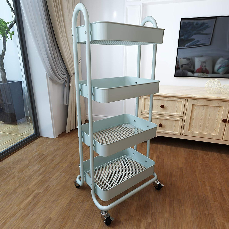 SAYZH 4 Tier Rolling ブランド買うならブランドオフ Cart Metal Storage Organizer Whe 低廉 Craft with