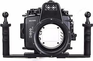 EACHSHOT 60m/195ft Waterproof for Nikon D800 Underwater Camera Housing Case Diving Equipment + Two Hands Aluminium Tray