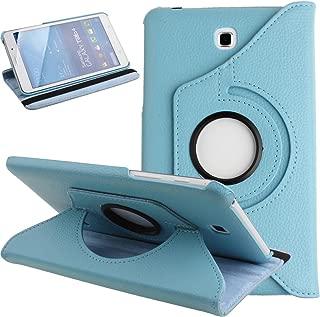 Galaxy Tab 4 7.0 Case,Flip Case for Galaxy Tab 4 7-inch Tablet,Folio Nook PU Leather 360 Degree Swivel Stand Case Cover for Samsung Galaxy Tab 4 7-inch Tablet T230 /T231/ T235,Light Blue