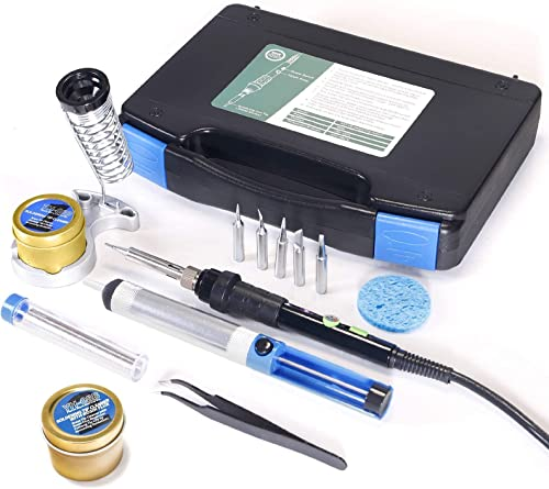 2021 YIHUA 947-III Hand Soldering Iron high quality Kit bundle with #08B Rosin Cleaning Kit with Iron Holder, Cleaning Kit, lowest and Accessories (12 Items) online sale