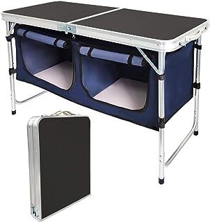 CampLand Outdoor Folding Table Aluminum Lightweight...