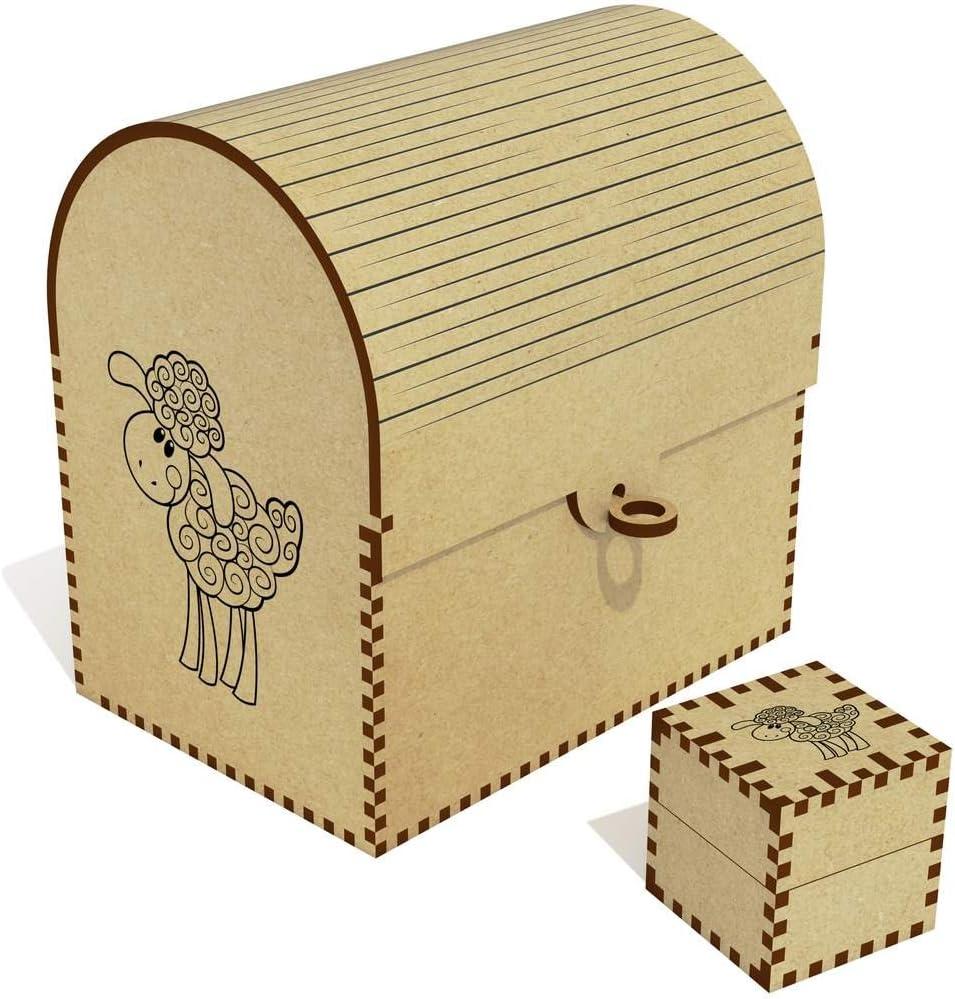 Azeeda 'Happy Sheep' Treasure Box Max Bargain sale 90% OFF Jewellery Chest TC00025241