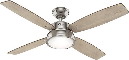 wholesale Hunter Fan Company online sale 50388 Wingate Ceiling Fan, Brushed Nickel online Finish online