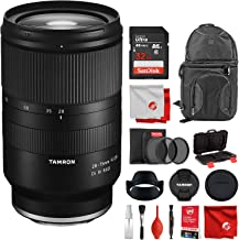 Tamron 28-75mm F/2.8 for Sony Mirrorless Full Frame E Mount Lens Bundle with 32 GB Memory Card 3-Piece Filters SD Case and Cleaning Kit