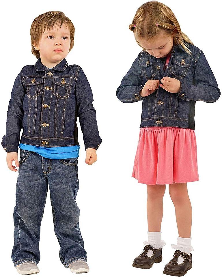 Gewichtsweste/Jacke für Kinder, Denim-Kompressionsweste mit Kapuze, Jacke und abnehmbaren Gewichten