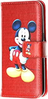 """iPhone 6S PLUS Wallet Case, DURARMOR® iPhone 6 PLUS Red Mickey Mouse Premium Leather Wallet with ID Card Cash Slots Flip Stand Magnetic Closure Carrying Case for iphone 6 Plus iphone 6s Plus 5.5"""""""