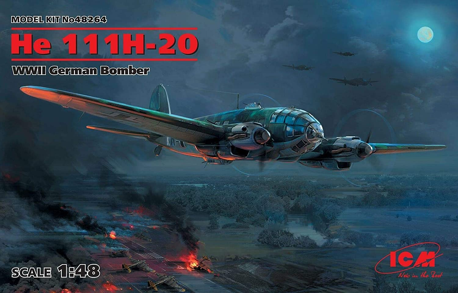 ICM 48264 Sale Special Price - He 111H-20 WWII German Sca Bomber 48 World II San Diego Mall 1 War