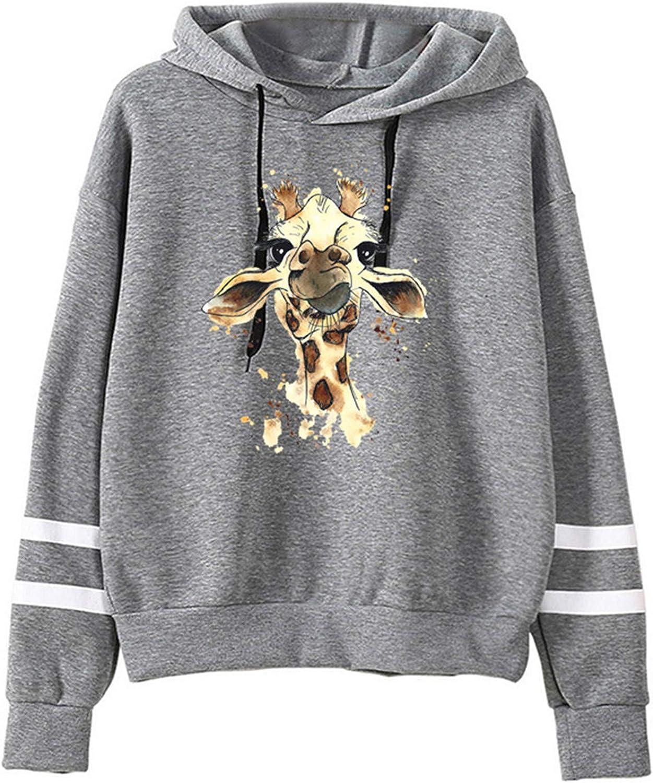 SALIFUN Women Hoodie Long Sleeve Pullover Teen Girls Autumn Winter Funny Heart Print Hoodie Drawstring Sweatshirt Jumper