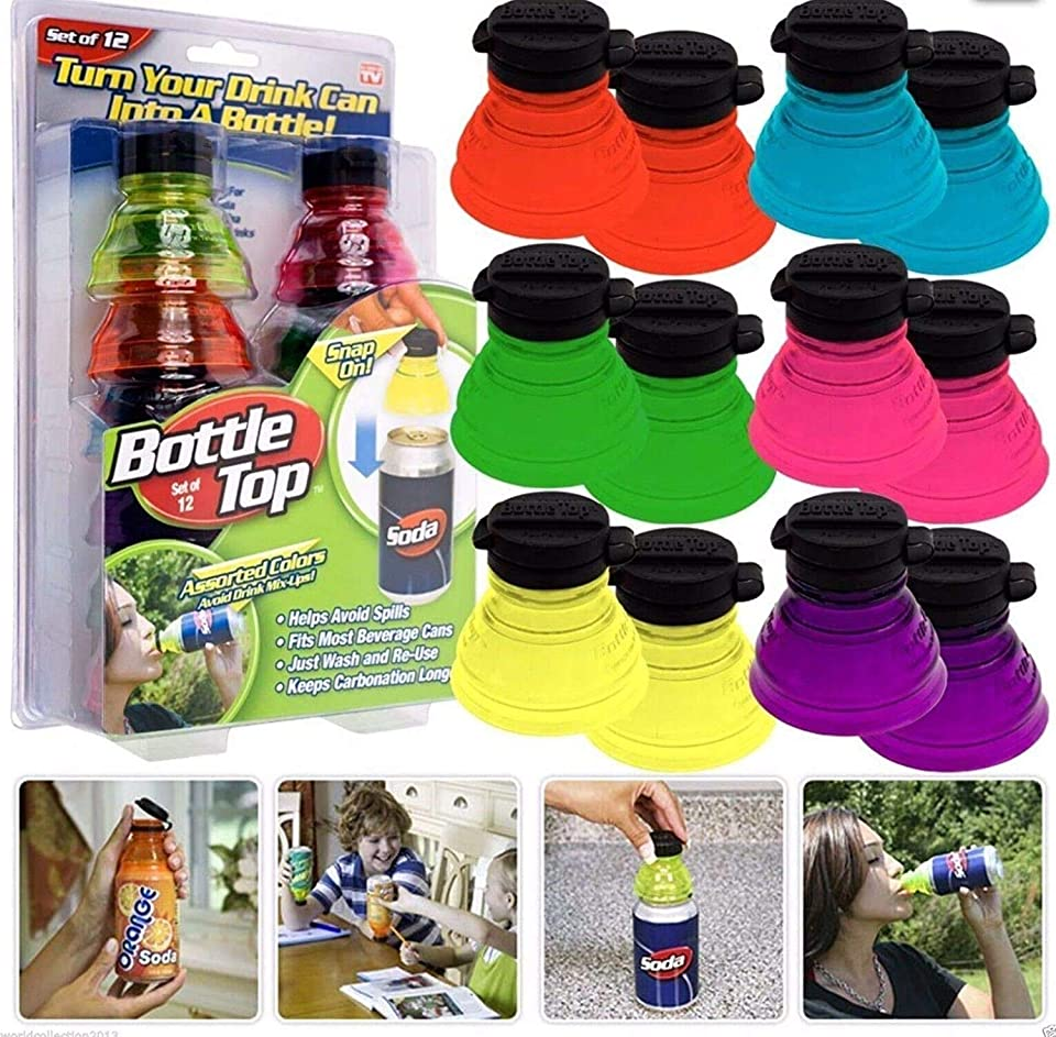 WWX Original Bottle TOP Soda can Tops Caps Toppers Lids 12 Pack