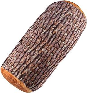 Almohada, MAGT Tronco de madera natural Almohada de respaldo Cojín suave Cuello del coche Almohada decorativa en forma de tocón para habitaciones de huéspedes Habitaciones para niños/adolescentes Viaj