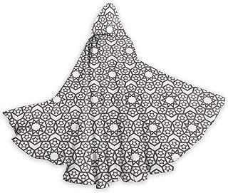 Adult Hooded Halloween Cloak Costumes Party Cape,Arabesque Oriental Folk Ethnic Historic Motif with Stars Geometric