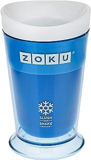 LEADWORKS ZOKU(ゾク) ゾク スラッシュシェイクメーカー ブルー W10.2xD10.2xH16.8cm カラフル おしゃれ アイス 冷たい おいしい 熱中症 シャーベット フローズン カクテル ヨーグルト フルーツ 39414