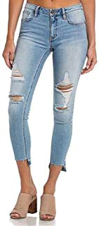 Miss Me Not Too Shabby Mid-Rise Ankle Skinny Jeans