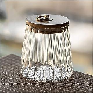 YOBAIH Scellé Transparent Glass Pot Spice Jar avec Couvercle, Boîte de Rangement de Poivre de sel Sugar Bowl Cuisine Acces...