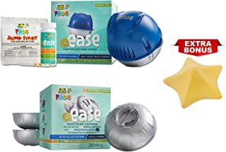 Frog @Ease Floating Sanitizing System for Hot Tubs with 3 Refill SmartChlor @ Ease Replacement Mineral Cartridges, Jump Start Shock and 30 Test Strips (with Bonus Starfish Oil Absorbing Sponge)