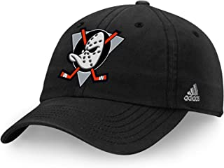 5603efbf23ea5 adidas Anaheim Mighty Ducks Team Logo Slouch Adjustable Hat Black