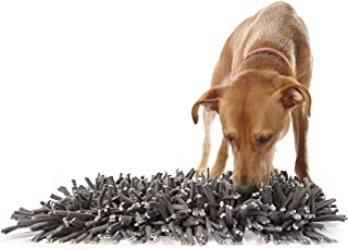 Woolly Snuffle Mat - Feeding Mat for Dogs (30cm x 46cm ) - Grey Feeding Mat - Encourages Natural Foraging Skills - Easy to...