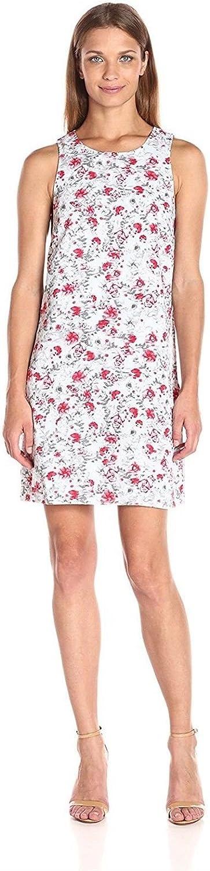 kensie Women's Windy Roses Printed Sleeveless Dress