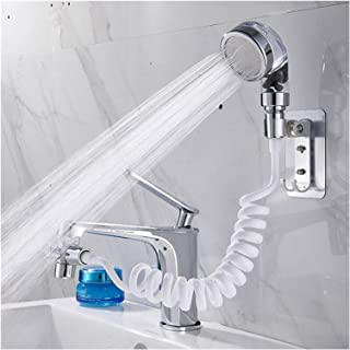 BIDLS Faucet Extender Bathroom Wash Face Basin Water Tap External Shower Head Toilet Hold Filter Flexible Hair Washing Fau...