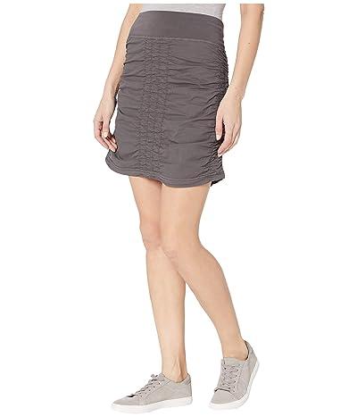 XCVI Wearables Solid Trace Skirt (Basalt Pigment) Women