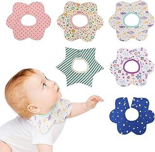 6 Packs Baby Bandana Bibs Super Absorbent Drool and Teething Bibs Burp Cloths for Newborns Boys, Girls Organic