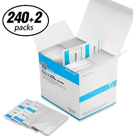 Lingette Lunette: MOSSLIAN(240 Packs) Lingettes Nettoyantes A-lcoolisées A~lcohol wipes pour Lunettes, Tablette, Smartphone, Écran de iPhone11 Pro, Samsung Galaxy S20,HUAWEI P40