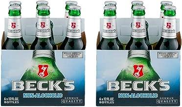 Malt Beverage Beck's German Non Alcoholic Beer 2 Packs of 12 Glass Bottles 12 fl.oz/354ml بكس بيرة بدون كحول
