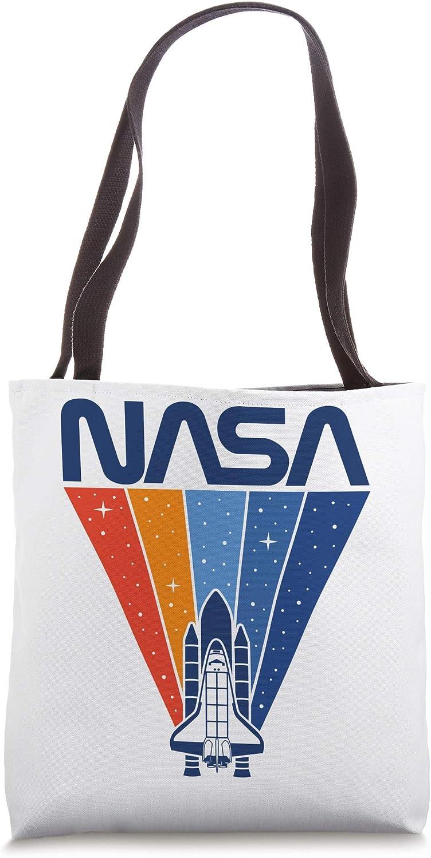 NASA Rainbow Trajectory Logo Tote Bag