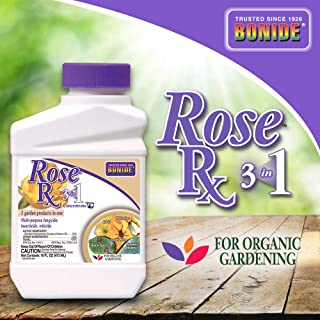 Bonide (BND917) - Rose Rx 3 in 1 Concentrate for Disease and Insect Control, Multipurpose Insecticide, Fungicide, and Miticide (1 Pint)