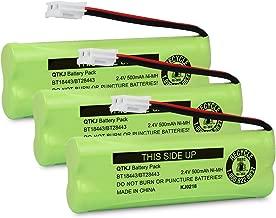 QTKJ BT18443 BT28443 Cordless Phone Battery for VTech LS-6115 LS-6117 LS-6125 LS6126 LS6225 LS6205 LS6217 LS-6205 LS-6215 89133700 Phone Handsets (3-Pack)