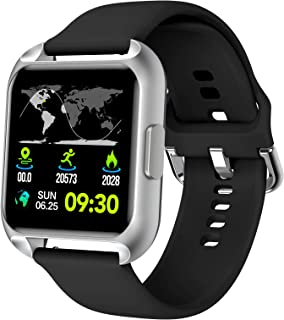 MAXTOP Smart Watch Compatible iPhone Android Phones Waterproof Activity Tracker Watch Heart Rate & Blood Oxygen Monitor Multifunction Smartwatch with Blood Pressure Sleep Tracker for Men Women (Black)