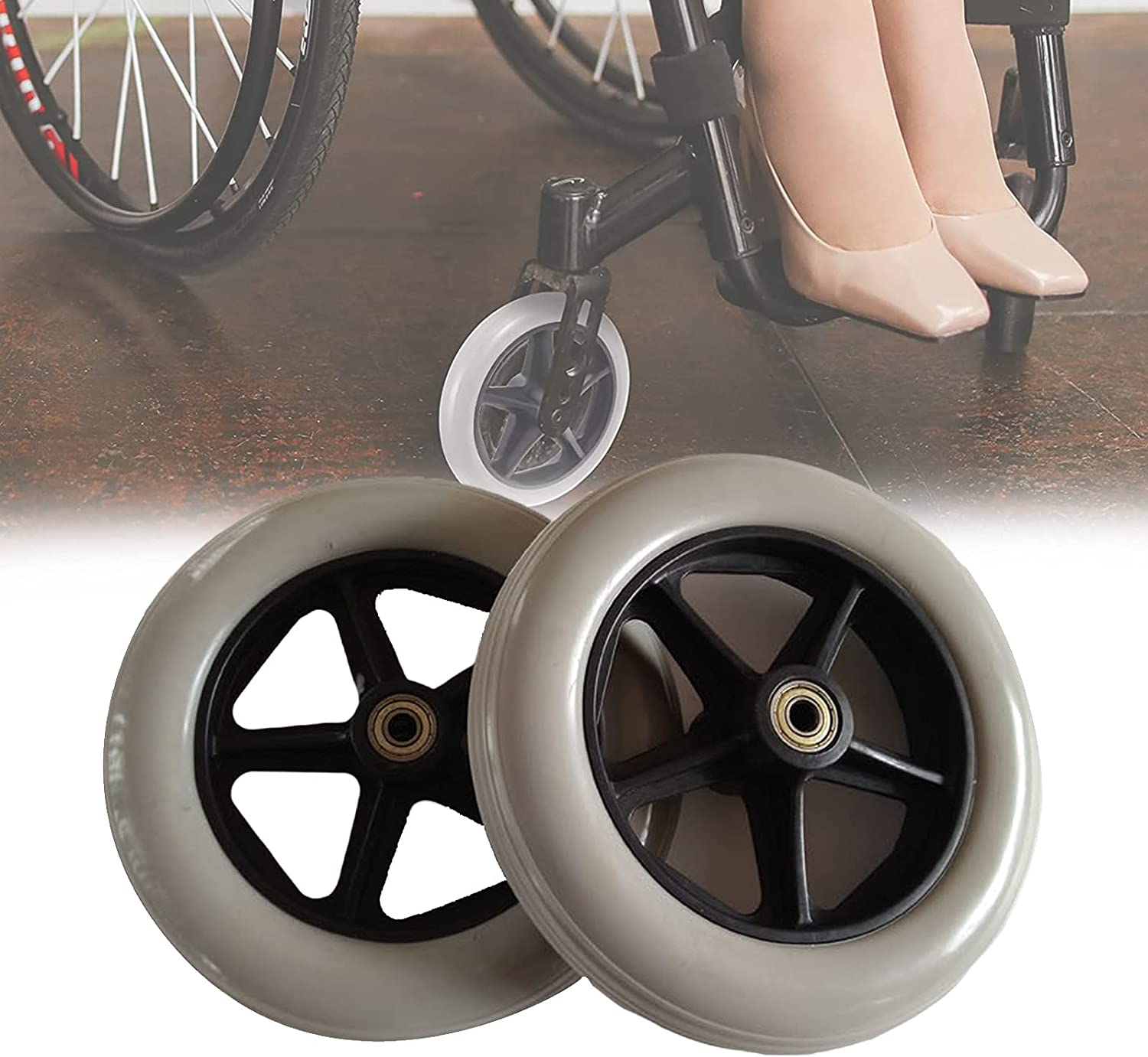 XIAOYUE 2 PCS Very popular Wheelchair Caster Wheel 8 Solid inch Front National uniform free shipping Tires