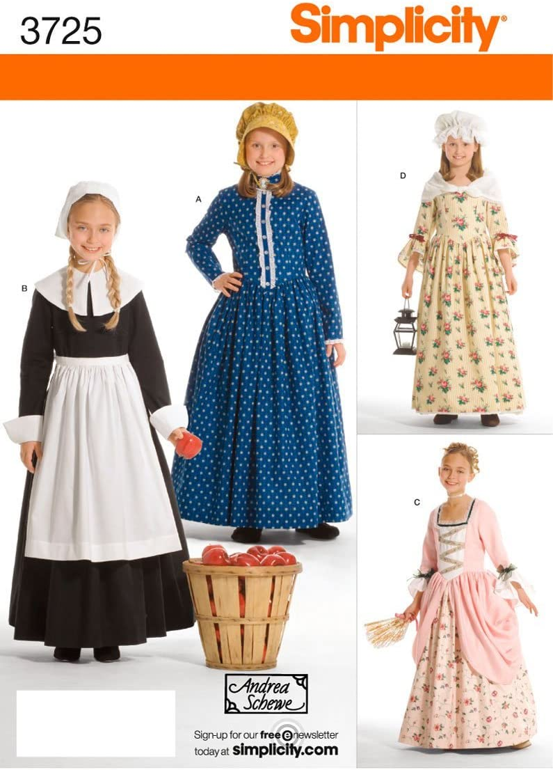Simplicity Historical Dresses Sewing Pattern Manufacturer Large special price !! regenerated product for Girls Costumes