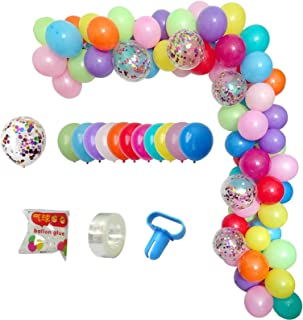 DIY Balloon Arch & Garland Kit, 113Pcs Party Balloons Decoration Set, Colorful Confetti Balloons & Colorful Latex Balloons...