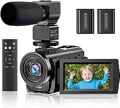 """دوربین فیلمبرداری دوربین فیلمبرداری YouTube Vlogging Camera HD 1080P 30FPS 24MP 16X بزرگنمایی دیجیتال 3 """"LCD 270 درجه صفحه نمایش چرخاننده ضبط دوربین دیجیتال با میکروفون ، کنترل از راه دور ، 2 باتری"""