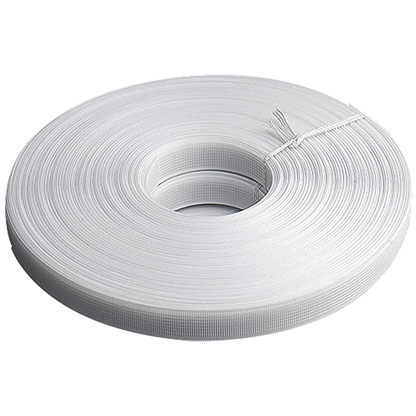 Teemico 50 Yards Polyester Boning for Sewing - Sew-Through Low Density Boning for Corsets, Nursing Caps, Bridal Gowns, (10mm Wide, White)