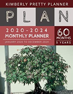 5 year monthly planner 2020-2024: monthly planner 5 year : password keeper and Journal, 60 Months Calendar (5 Year Monthly...