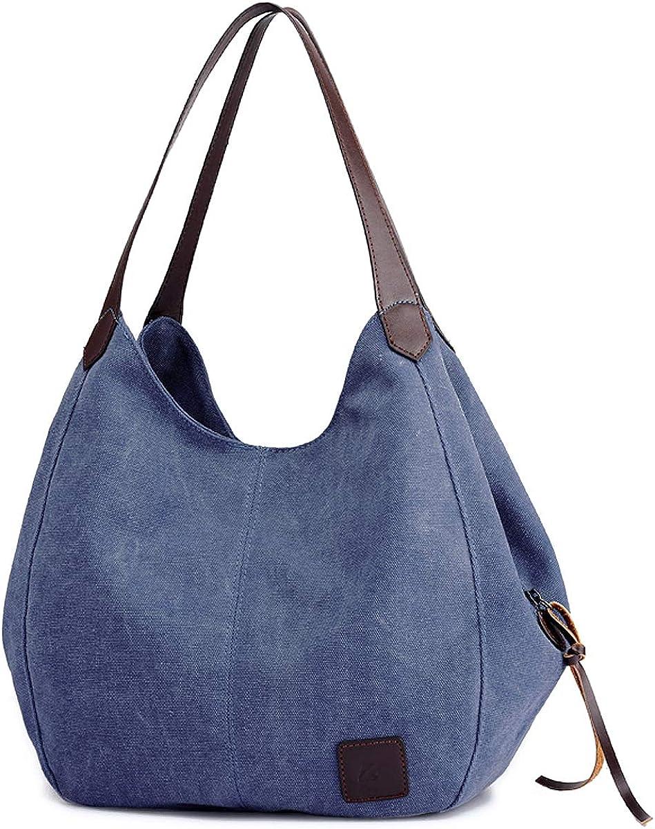 DOURR Women's Multi-pocket Shoulder Bag Cotton Beauty products Canvas Ha Tucson Mall Fashion