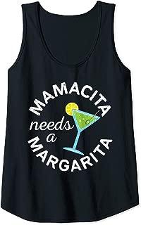 Womens Mamacita Needs A Margarita T-Shirt Cinco De Mayo Gift Tank Top