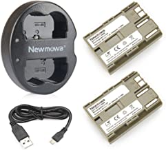 Newmowa BP-511 Replacement Battery(2-Pack) and Dual USB Charger for Canon EOS 5D, 50D, 40D, 20D, 30D, 10D, Digital Rebel, ...