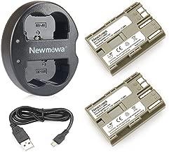 Newmowa BP-511Batería de Repuesto (2-Pack) y Kit de Cargador Doble para Canon BP-511 BP-511A Canon EOS 5D 10D 20D 30D 40D 50D Rebel 1D D60 300D D30 Kiss Powershot G5 Pro 1 G2 G3 G6 G1 Pro90