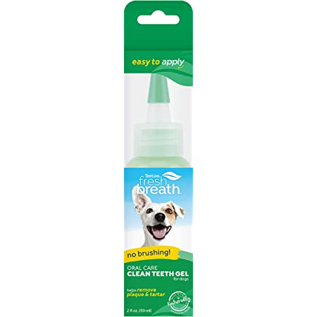 TropiClean Fresh Breath No Brushing Oral Care Gel for Pets - Made in USA - Removes Plaque & Tartar Without Brushing - Easy Dental Routine