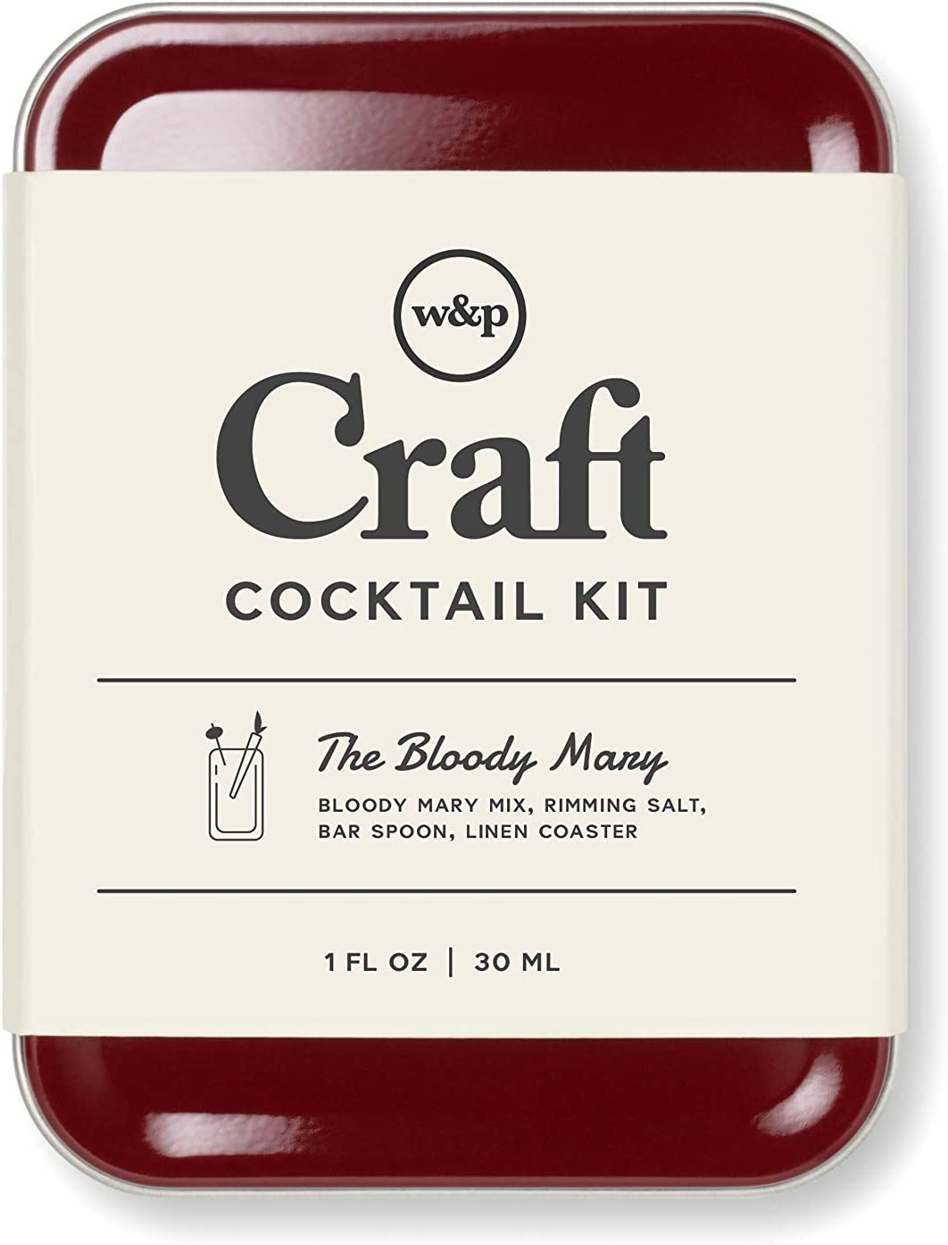 W&P Craft Cocktail Kit, Bloody Mary, Portable Kit for Drinks on the Go, Carry On Cocktail Kit, Makes A Great Gift